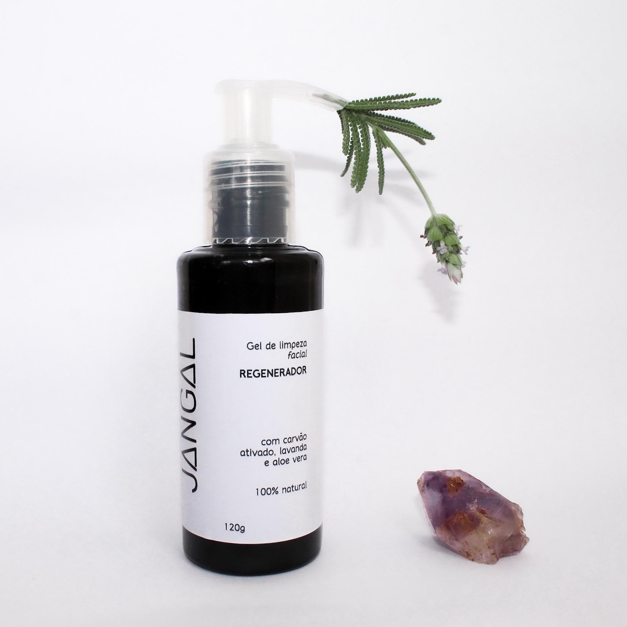 gel de limpeza facial cosmético natural e vegano remove cravinhos