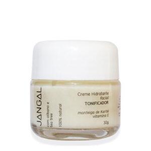 Creme hidratante facial vitamina E jangal cosméticos naturais