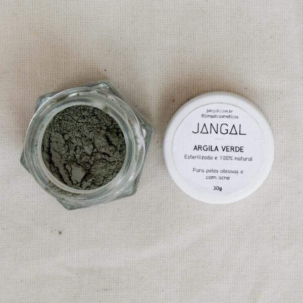 argila verde natural orgânica máscara para rosto cosmético vegano