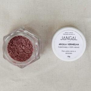 argila vermelha natural orgânica máscara para rosto cosmético vegano